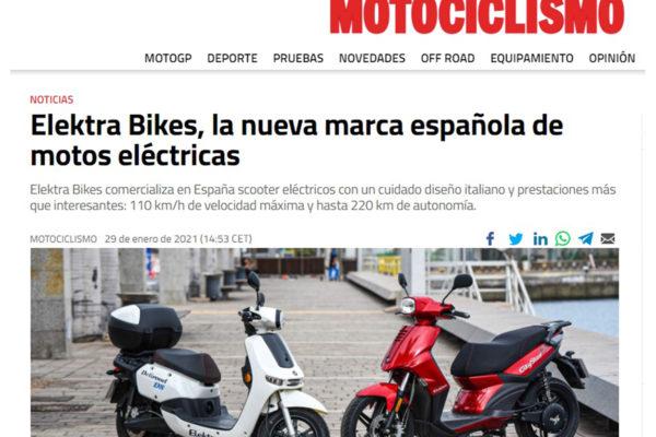 Noticia en la Revista Motociclismo